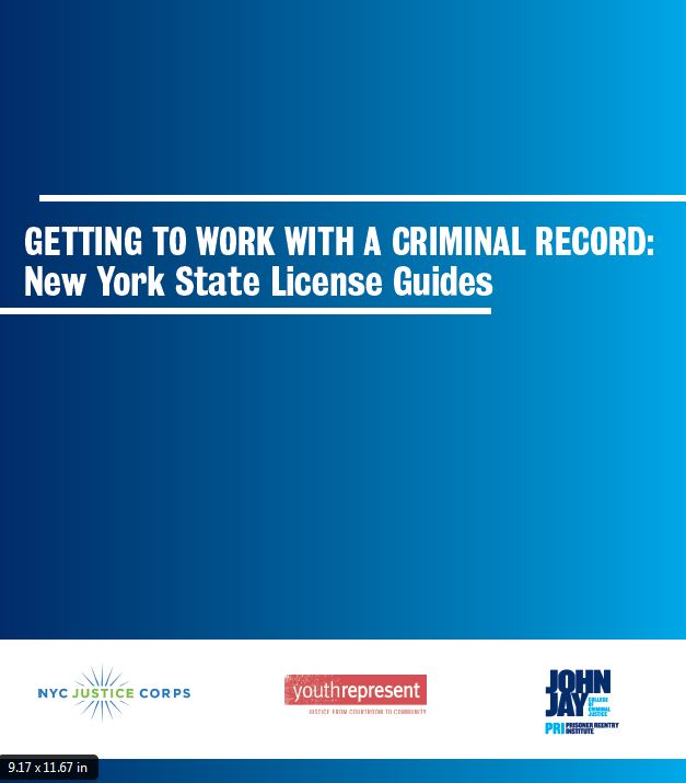 Getting to Work with a Criminal Record: NYS License Guides