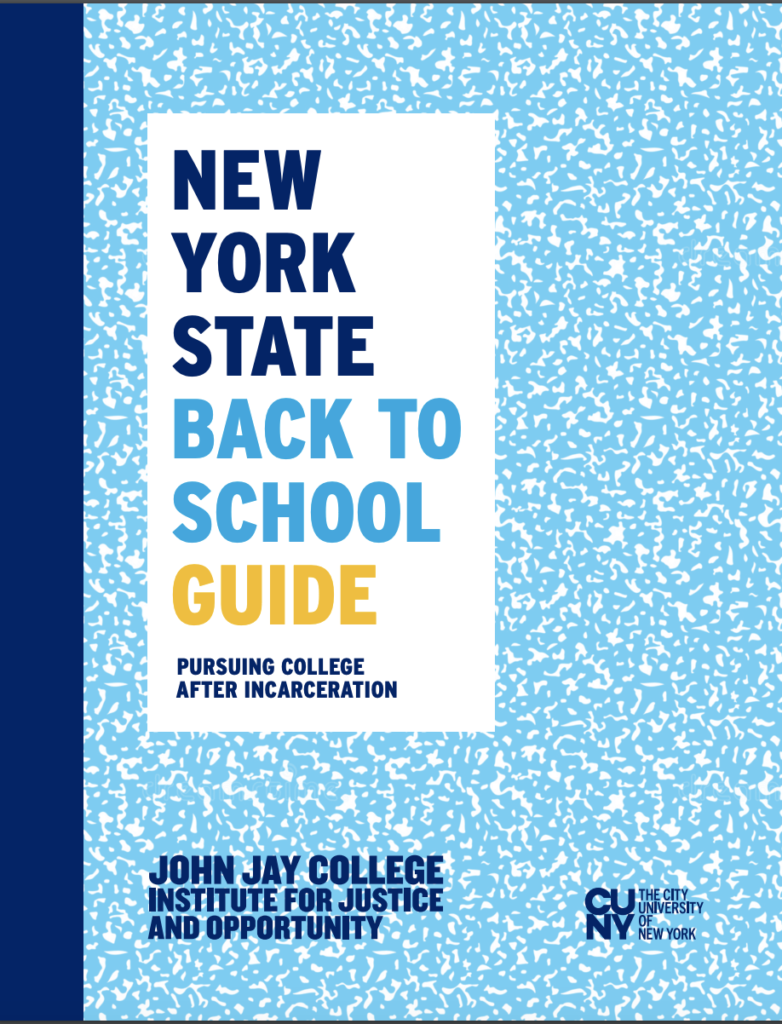 New York State Back to School Guide: Pursuing College After Incarceration
